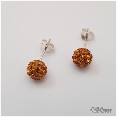 Sidabriniai auskarai su swarovski kristalais Au718