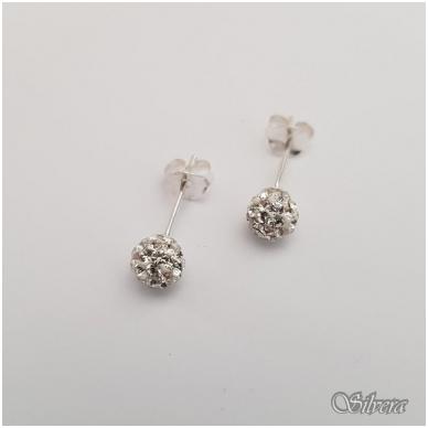 Sidabriniai auskarai su swarovski kristalais Au905