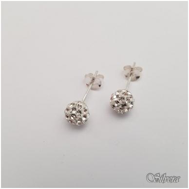 Sidabriniai auskarai su swarovski kristalais Au906
