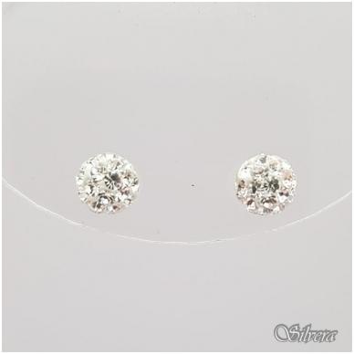 Sidabriniai auskarai su swarovski kristalais Au907 2