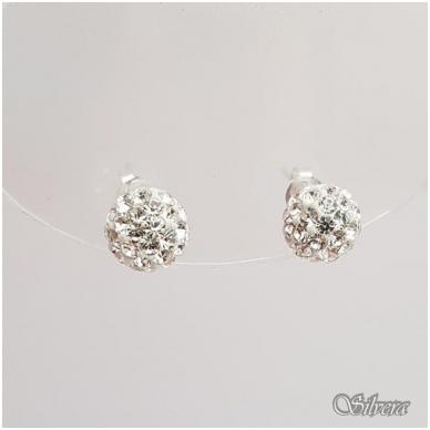 Sidabriniai auskarai su swarovski kristalais Au908 2