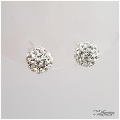 Sidabriniai auskarai su swarovski kristalais Au909 2