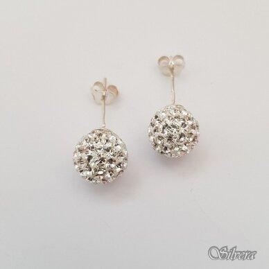 Sidabriniai auskarai su swarovski kristalais Au910