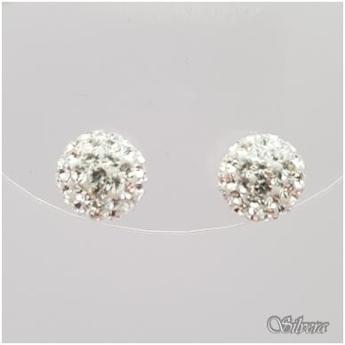 Sidabriniai auskarai su swarovski kristalais Au910 2