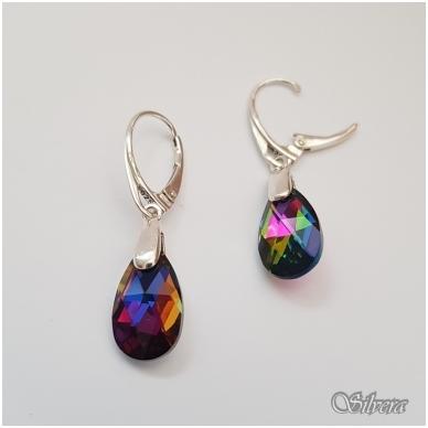 Sidabriniai auskarai su swarovski kristalu Au4025 2