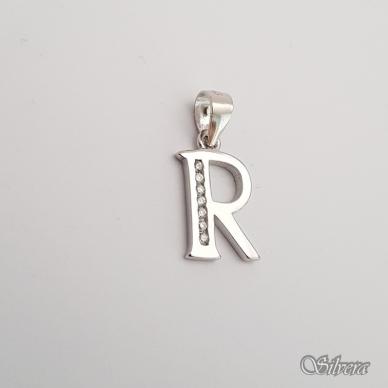"""Sidabrinis pakabukas su cirkoniais raidė """"R"""" 2"""