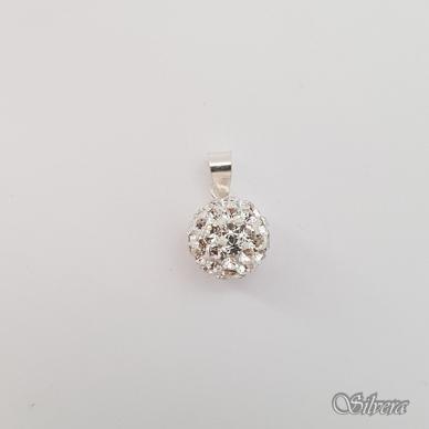 Sidabrinis pakabukas su swarovski kristalais P161 2
