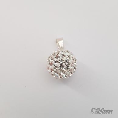 Sidabrinis pakabukas su swarovski kristalais P162 2