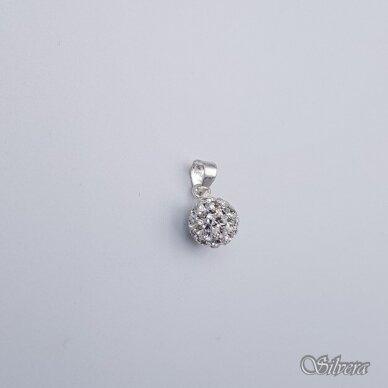 Sidabrinis pakabukas su swarovski kristalais P241 2