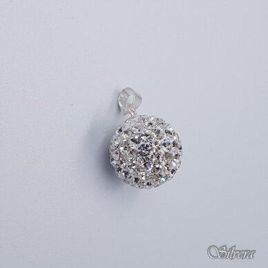 Sidabrinis pakabukas su swarovski kristalais P242 2