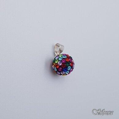 Sidabrinis pakabukas su swarovski kristalais P246