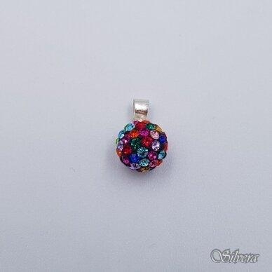 Sidabrinis pakabukas su swarovski kristalais P246 2
