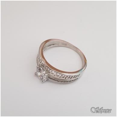 Sidabrinis žiedas su cirkoniais Z104; 19 mm 3