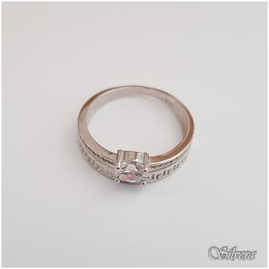 Sidabrinis žiedas su cirkoniais Z104; 19 mm 4