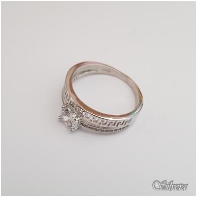Sidabrinis žiedas su cirkoniais Z104; 20 mm 3