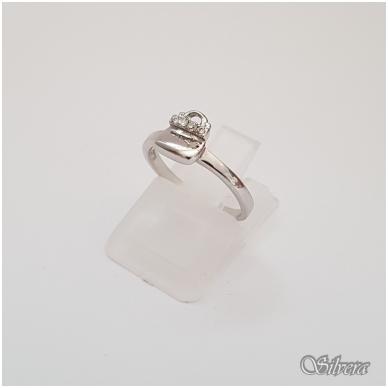 Sidabrinis žiedas su cirkoniais Z126; 15 mm