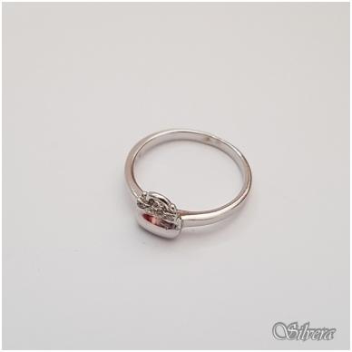 Sidabrinis žiedas su cirkoniais Z126; 15 mm 2