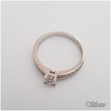 Sidabrinis žiedas su cirkoniais Z133; 17 mm 2