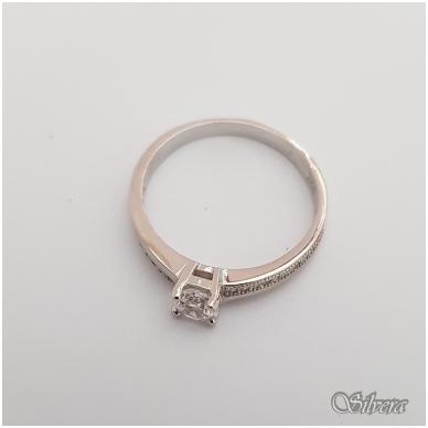Sidabrinis žiedas su cirkoniais Z133; 18 mm 2