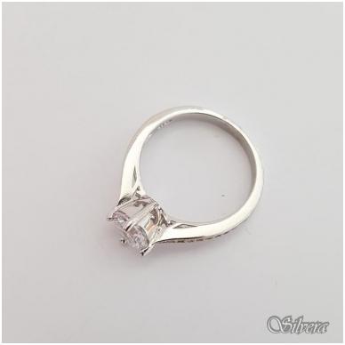Sidabrinis žiedas su cirkoniais Z136; 16,5 mm 2
