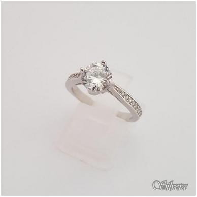 Sidabrinis žiedas su cirkoniais Z136; 17,5 mm