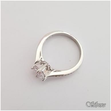 Sidabrinis žiedas su cirkoniais Z136; 17,5 mm 2