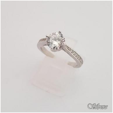 Sidabrinis žiedas su cirkoniais Z136; 18 mm