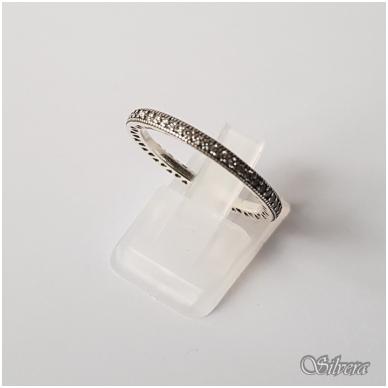 Sidabrinis žiedas su cirkoniais Z144; 18,5 mm