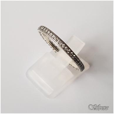 Sidabrinis žiedas su cirkoniais Z144; 18,5 mm 2