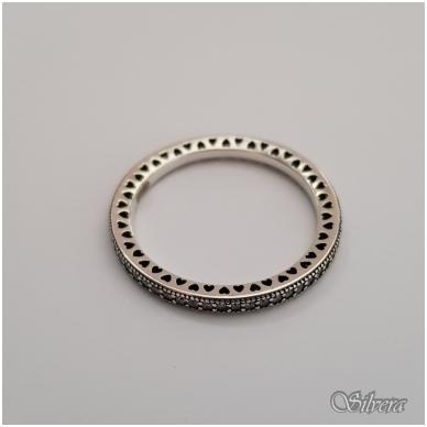 Sidabrinis žiedas su cirkoniais Z144; 18,5 mm 3