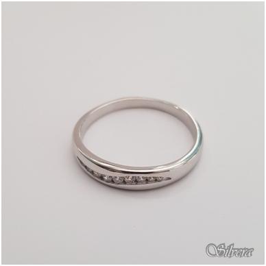 Sidabrinis žiedas su cirkoniais Z145; 20,5 mm 2