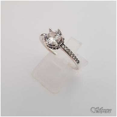 Sidabrinis žiedas su cirkoniais Z146; 16,5 mm