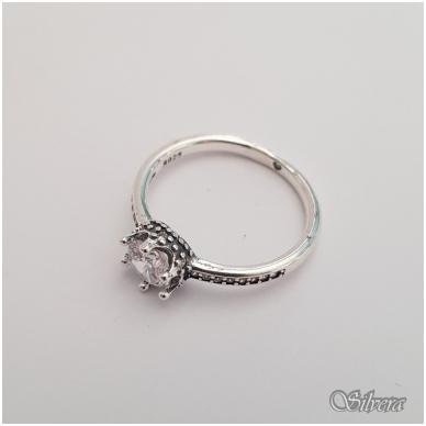 Sidabrinis žiedas su cirkoniais Z146; 16,5 mm 2