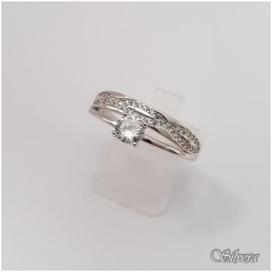 Sidabrinis žiedas su cirkoniais Z147; 18 mm