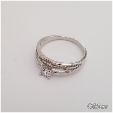 Sidabrinis žiedas su cirkoniais Z147; 18 mm 2