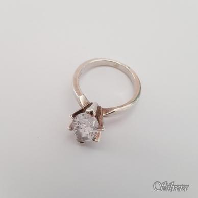 Sidabrinis žiedas su cirkoniu Z160; 16 mm 2
