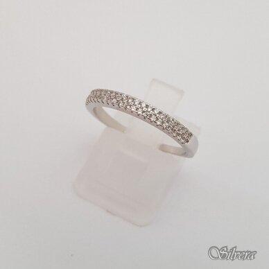 Sidabrinis žiedas su cirkoniais Z180; 18 mm