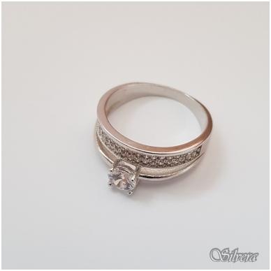 Sidabrinis žiedas su cirkoniais Z2005; 17,5 mm 2