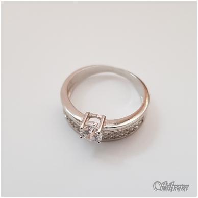 Sidabrinis žiedas su cirkoniais Z2005; 17,5 mm 3