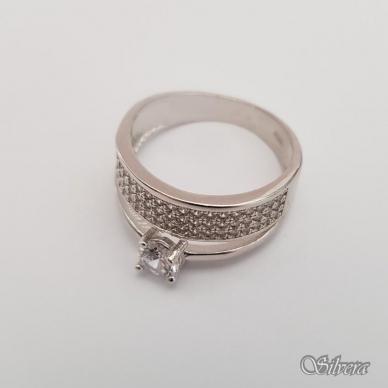 Sidabrinis žiedas su cirkoniais Z206; 17 mm 2