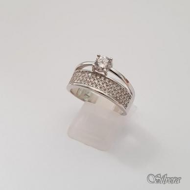 Sidabrinis žiedas su cirkoniais Z206; 18 mm