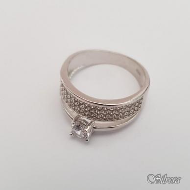 Sidabrinis žiedas su cirkoniais Z206; 18 mm 2