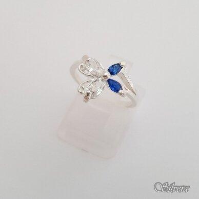 Sidabrinis žiedas su cirkoniais Z2076; 16 mm