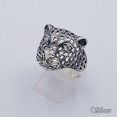 Sidabrinis žiedas su cirkoniais Z208; 20,5 mm 2