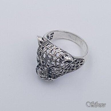 Sidabrinis žiedas su cirkoniais Z208; 20,5 mm 3