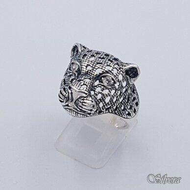 Sidabrinis žiedas su cirkoniais Z208; 22 mm 2