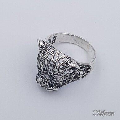 Sidabrinis žiedas su cirkoniais Z208; 22 mm 3