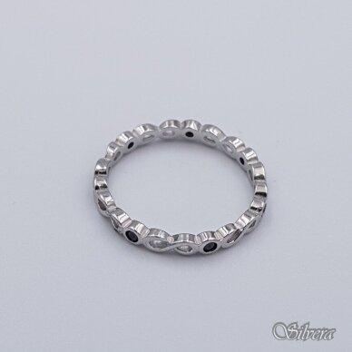 Sidabrinis žiedas su cirkoniais Z209; 16,5 mm 2