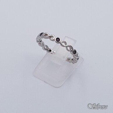 Sidabrinis žiedas su cirkoniais Z209; 17,5 mm