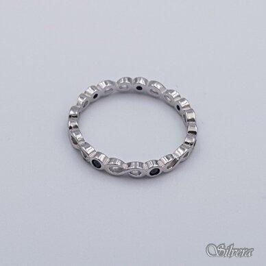 Sidabrinis žiedas su cirkoniais Z209; 17,5 mm 2